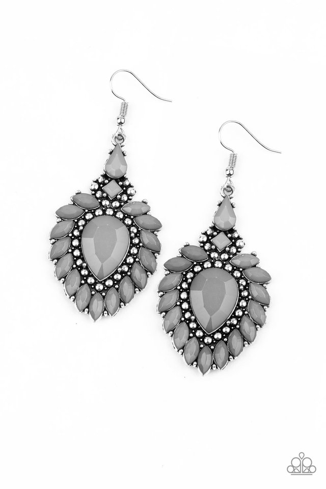 The LIONESS Den - Silver - Paparazzi Earring Image