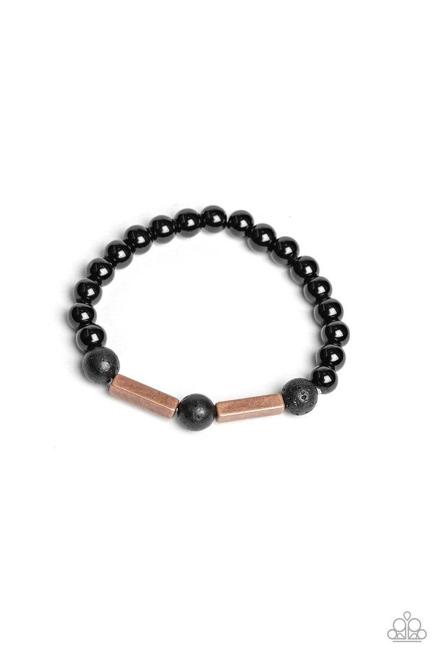 Metro Meditation - Copper - Paparazzi Bracelet Image