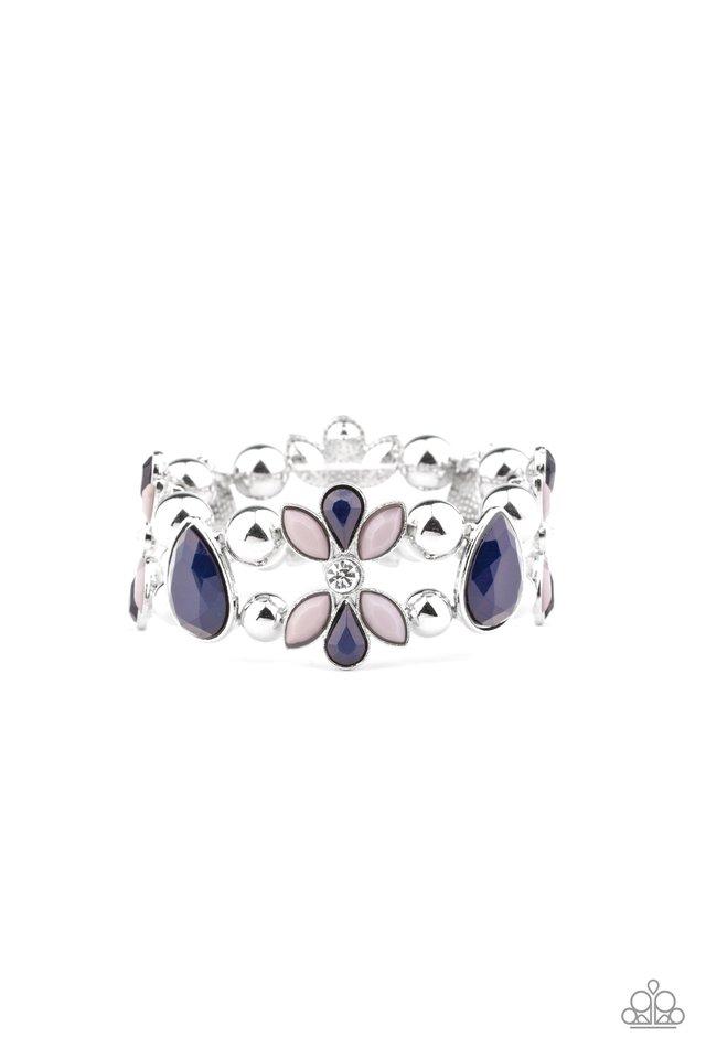 Fabulously Flourishing - Blue - Paparazzi Bracelet Image