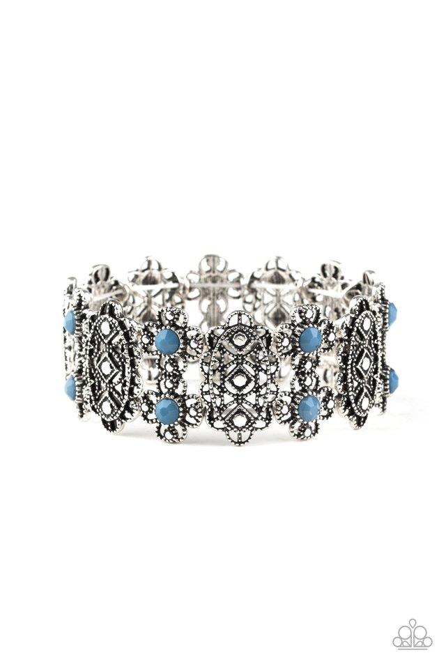 Majestic Gardens - Blue - Paparazzi Bracelet Image