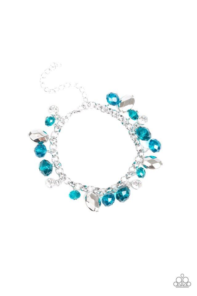 Dazing Dazzle - Blue - Paparazzi Bracelet Image
