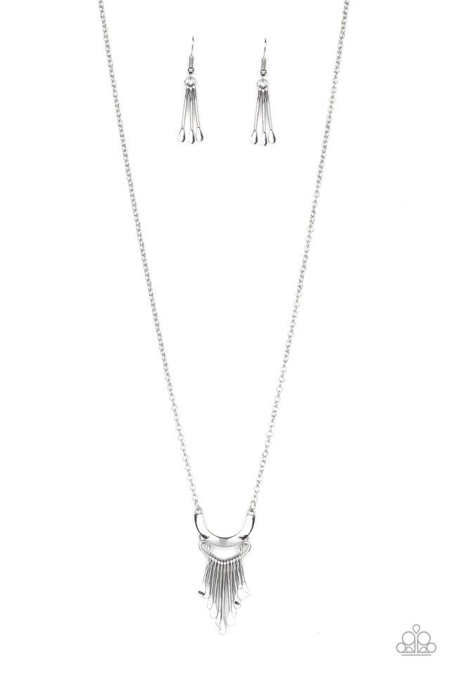Trendsetting Trinket - Silver - Paparazzi Necklace Image