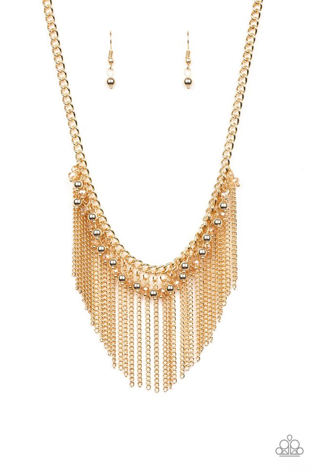 Divinely Diva - Gold - Paparazzi Necklace Image