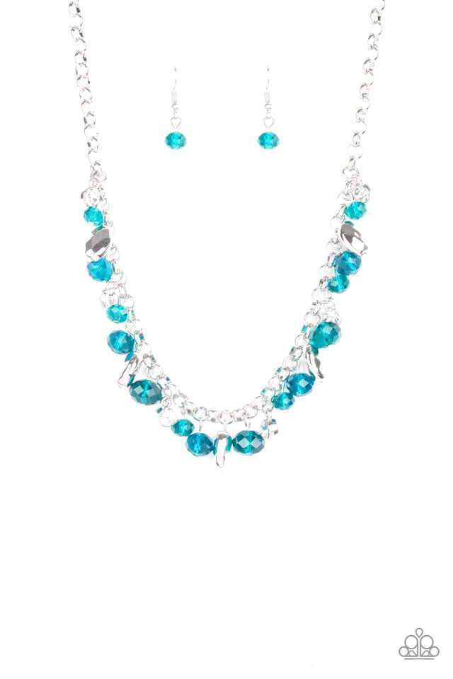Downstage Dazzle - Blue - Paparazzi Necklace Image