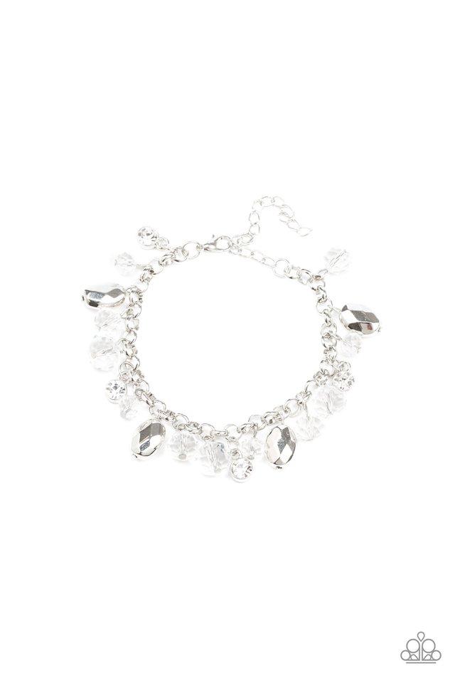 Dazing Dazzle - White - Paparazzi Bracelet Image