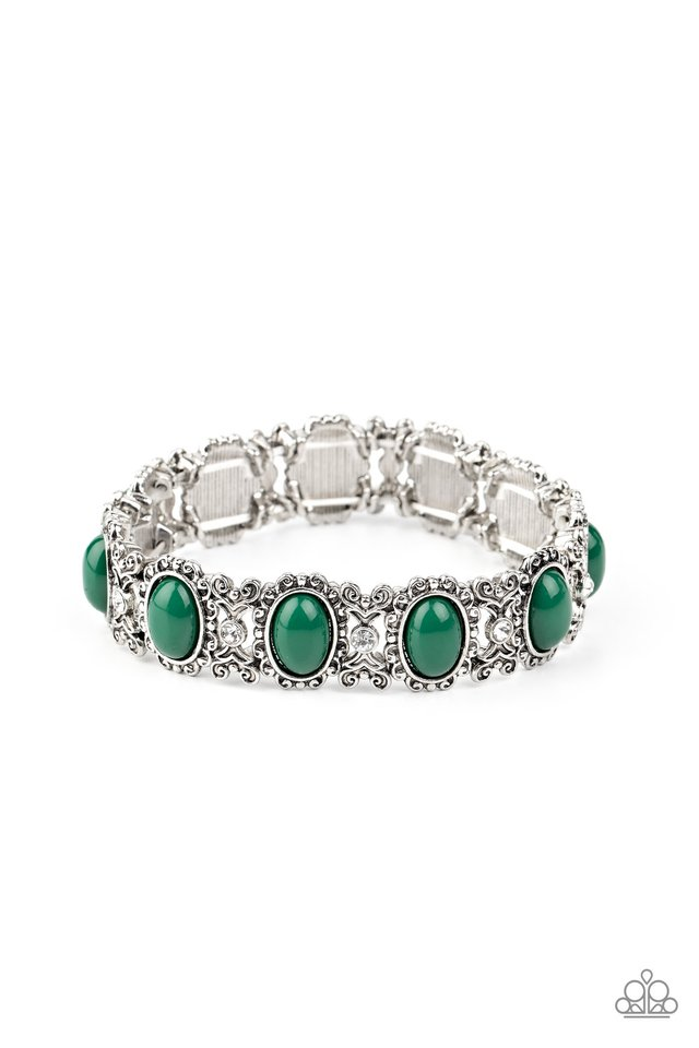 A Piece of Cake - Green - Paparazzi Bracelet Image