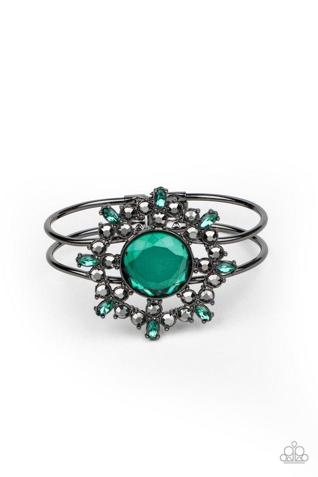 Elaborate Elegance - Green - Paparazzi Bracelet Image
