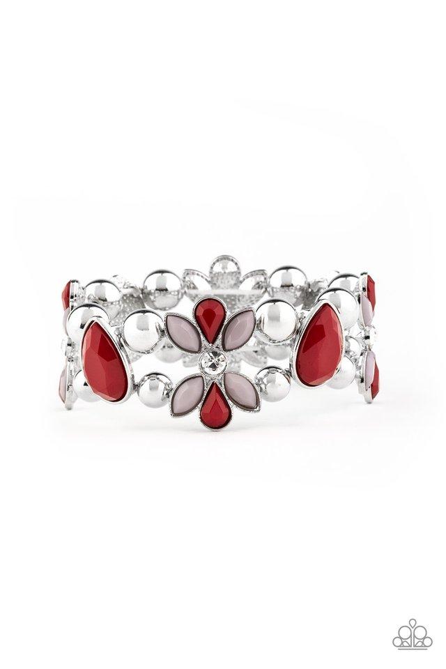 Fabulously Flourishing - Red - Paparazzi Bracelet Image