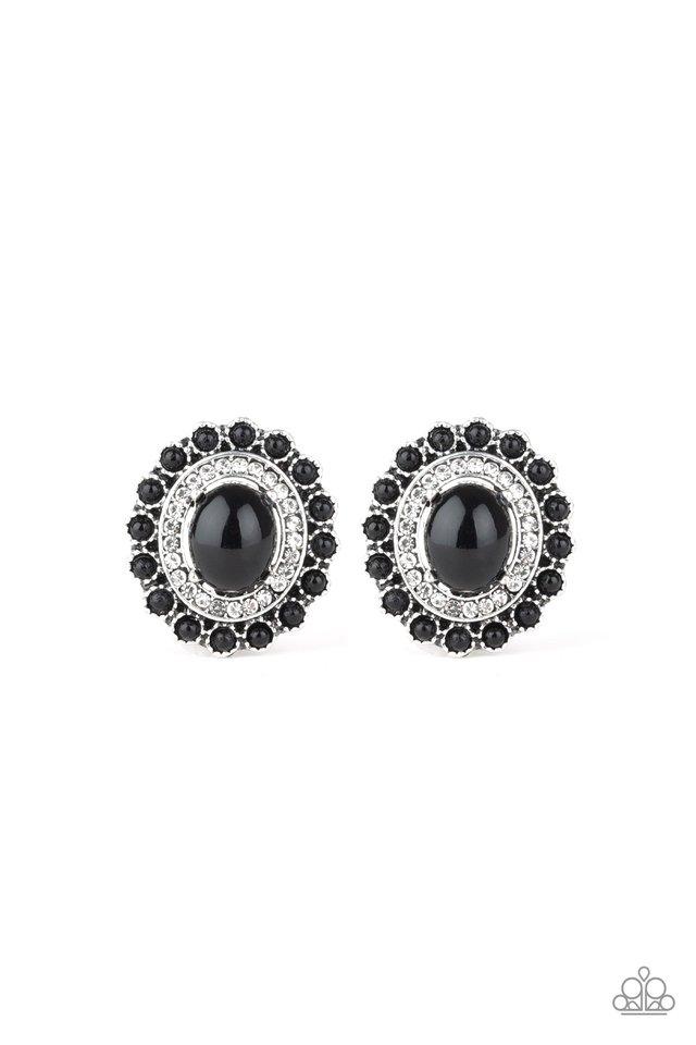 Floral Flamboyance - Black - Paparazzi Earring Image