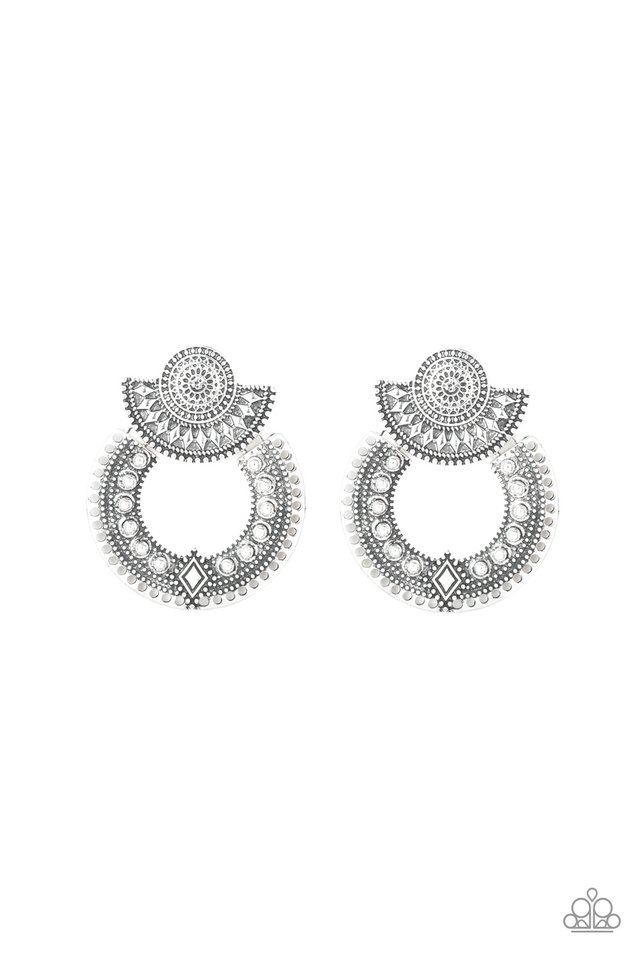Texture Takeover - Silver - Paparazzi Earring Image