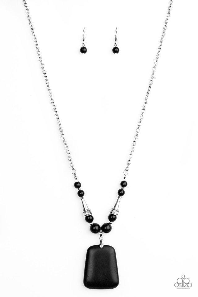 Sandstone Oasis - Black - Paparazzi Necklace Image