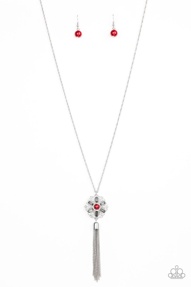 Fine Florals - Red - Paparazzi Necklace Image