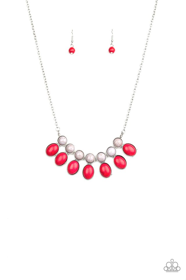 Environmental Impact - Red - Paparazzi Necklace Image