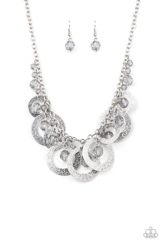 Turn It Up - Silver - Paparazzi Necklace Image