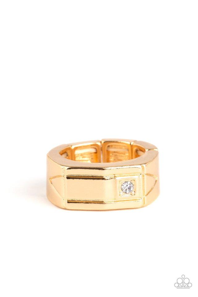 Atlas - Gold - Paparazzi Ring Image