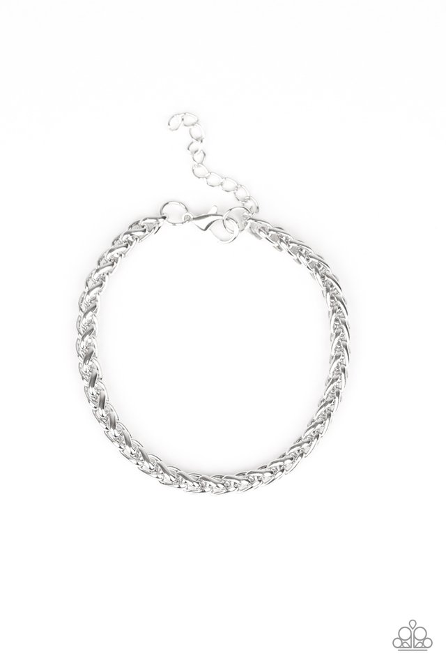 Knocked It Out Of The Park - Silver - Paparazzi Bracelet Image