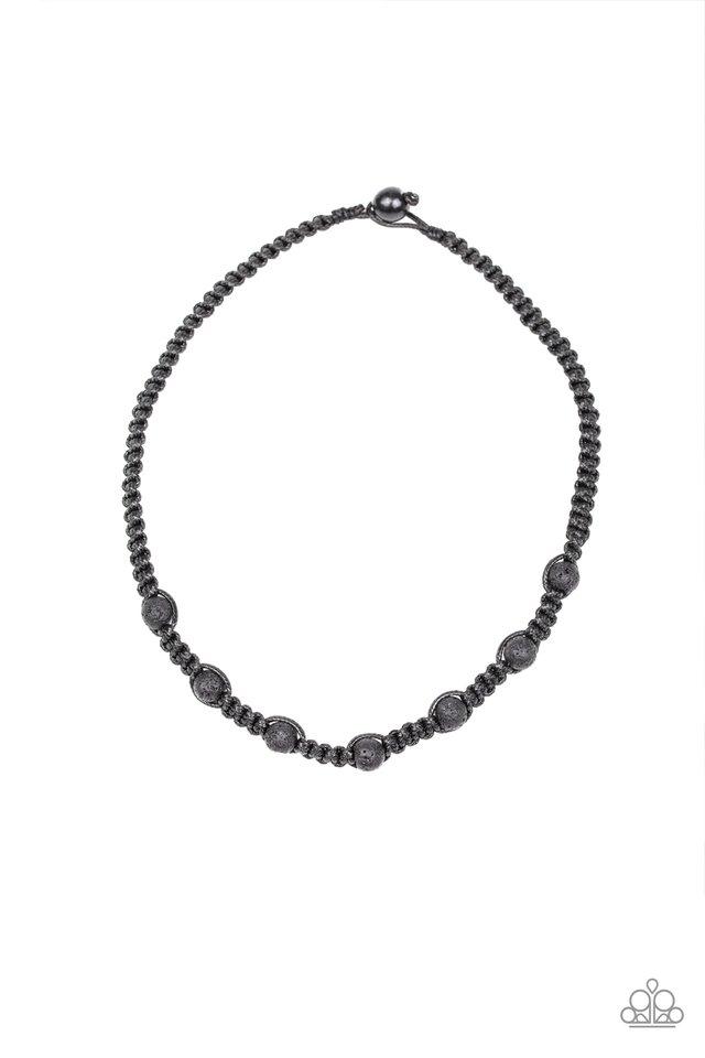 Rock Art - Black - Paparazzi Necklace Image