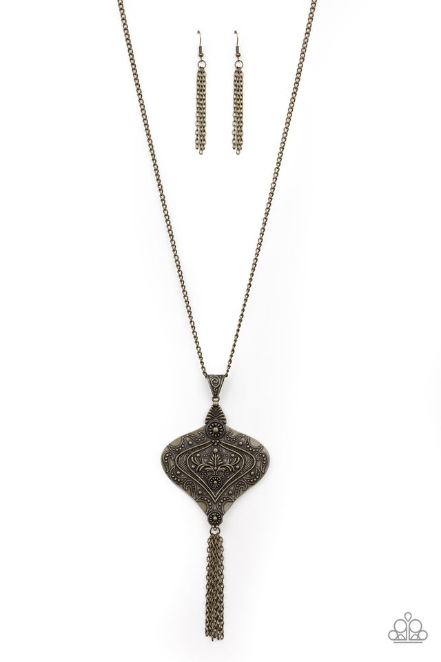 Rural Remedy - Brass - Paparazzi Necklace Image