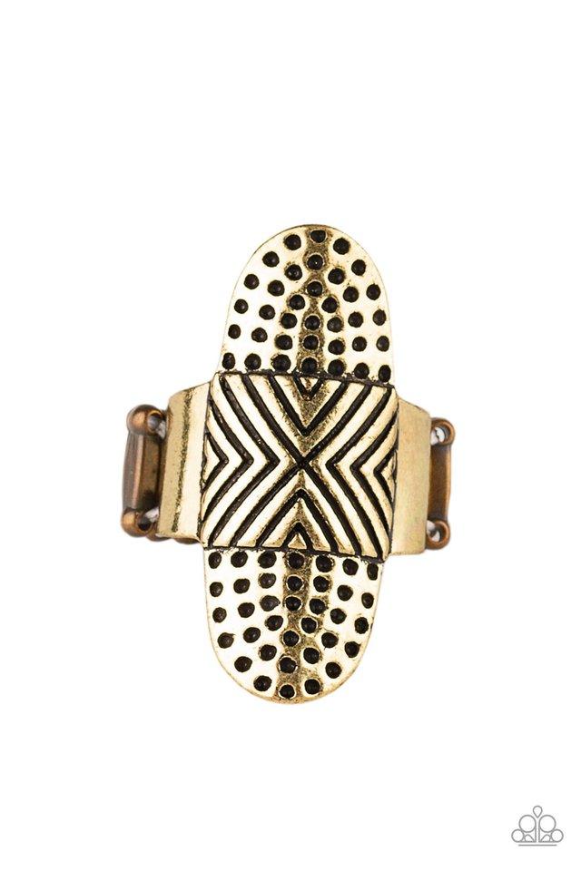 Guru Grunge - Brass - Paparazzi Ring Image