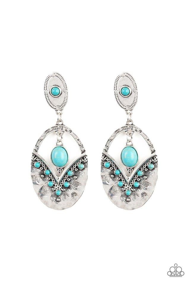 Terra Tribute - Blue - Paparazzi Earring Image
