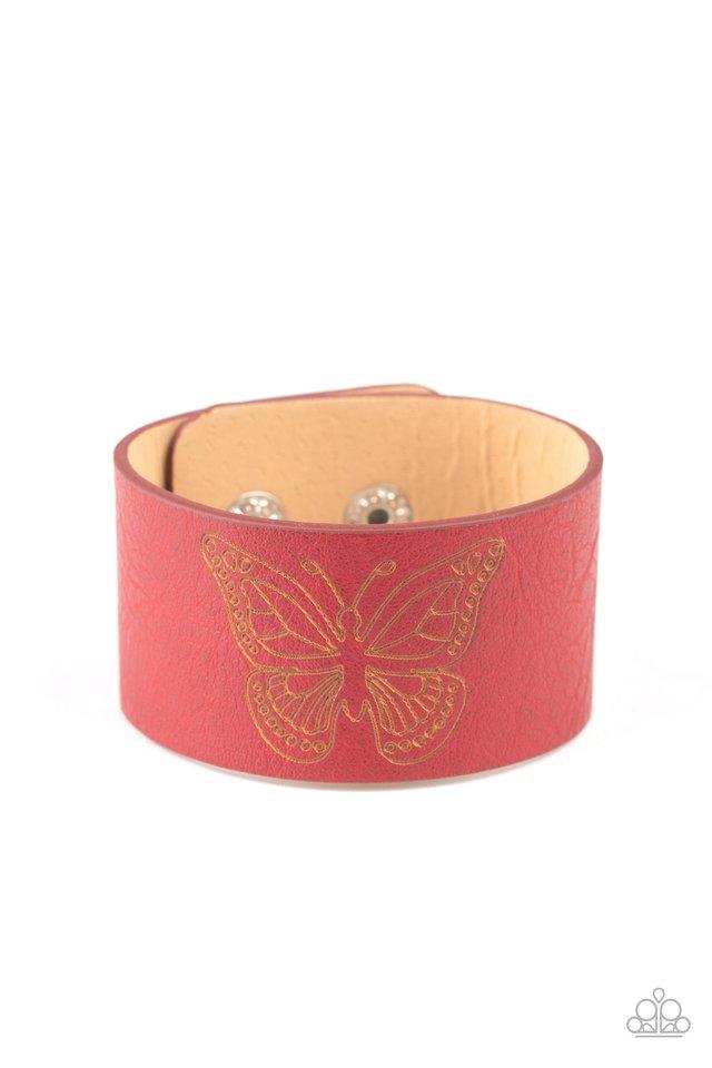 Flirty Flutter - Red - Paparazzi Bracelet Image