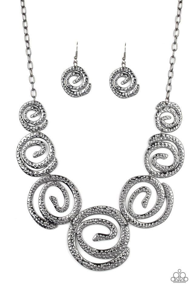 Statement Swirl - Black - Paparazzi Necklace Image
