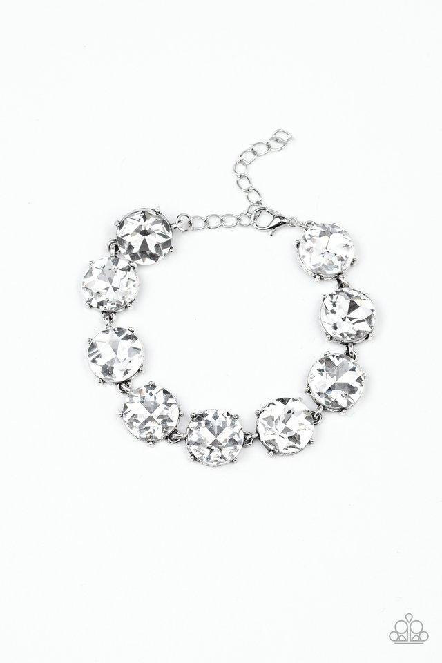 Fabulously Flashy - White - Paparazzi Bracelet Image