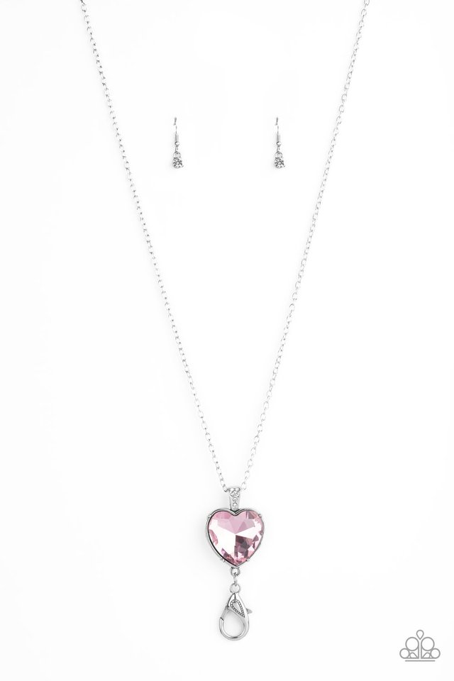 Lovely Luminosity - Pink - Paparazzi Necklace Image