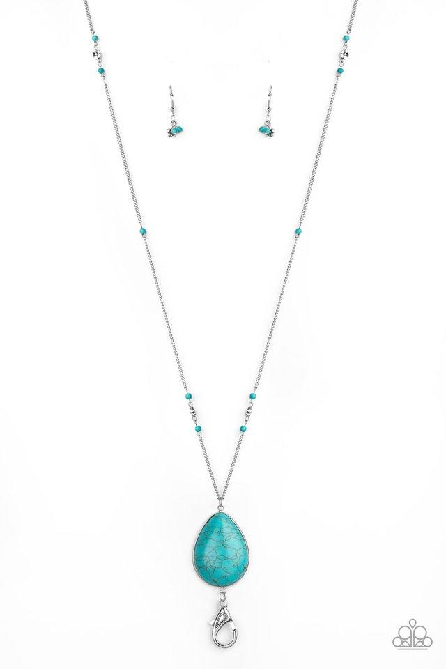 Desert Meadow - Blue - Paparazzi Necklace Image