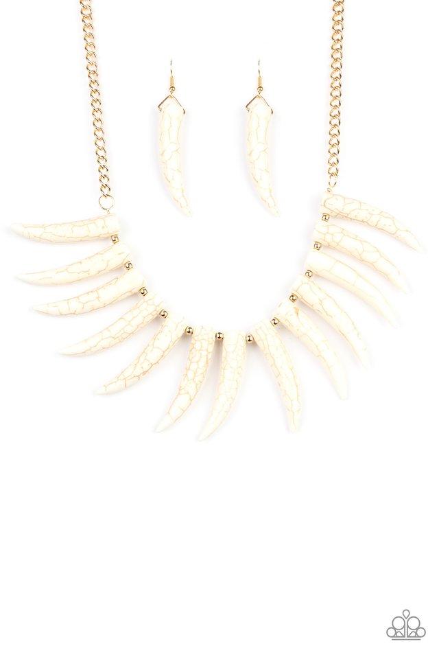 Tusk Tundra - White - Paparazzi Necklace Image