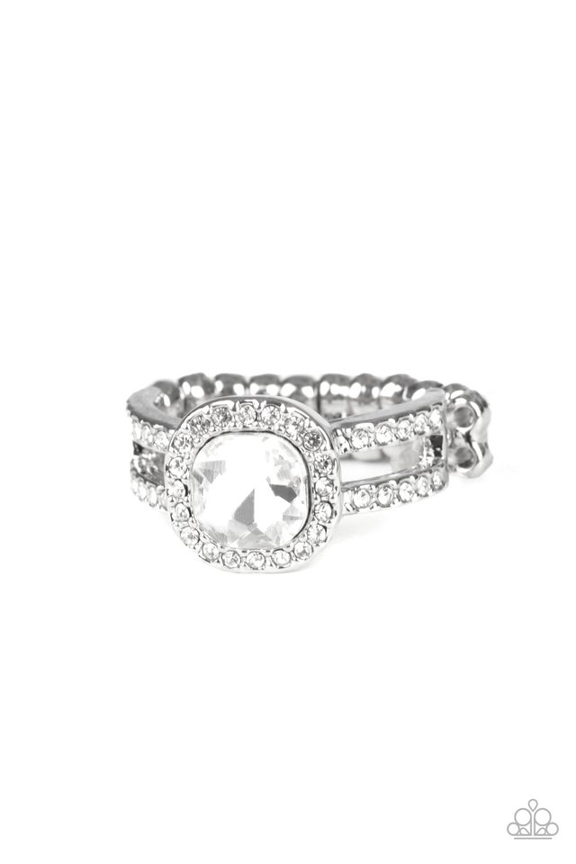 Countess Charm - White - Paparazzi Ring Image