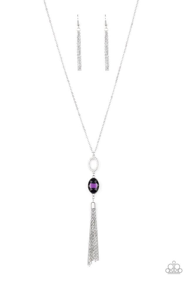 Unstoppable Glamour - Purple - Paparazzi Necklace Image