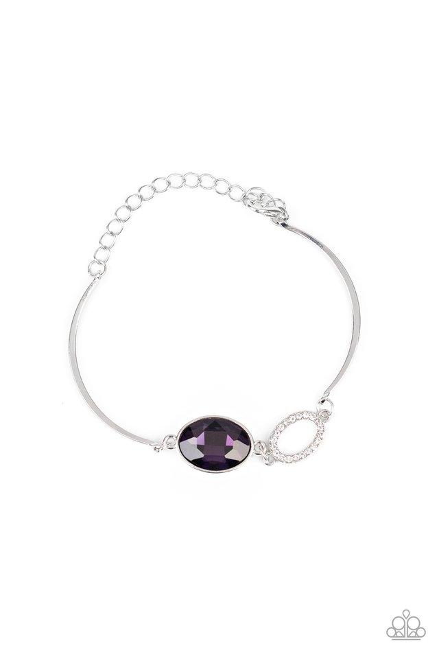Glamorous Glow - Purple - Paparazzi Bracelet Image