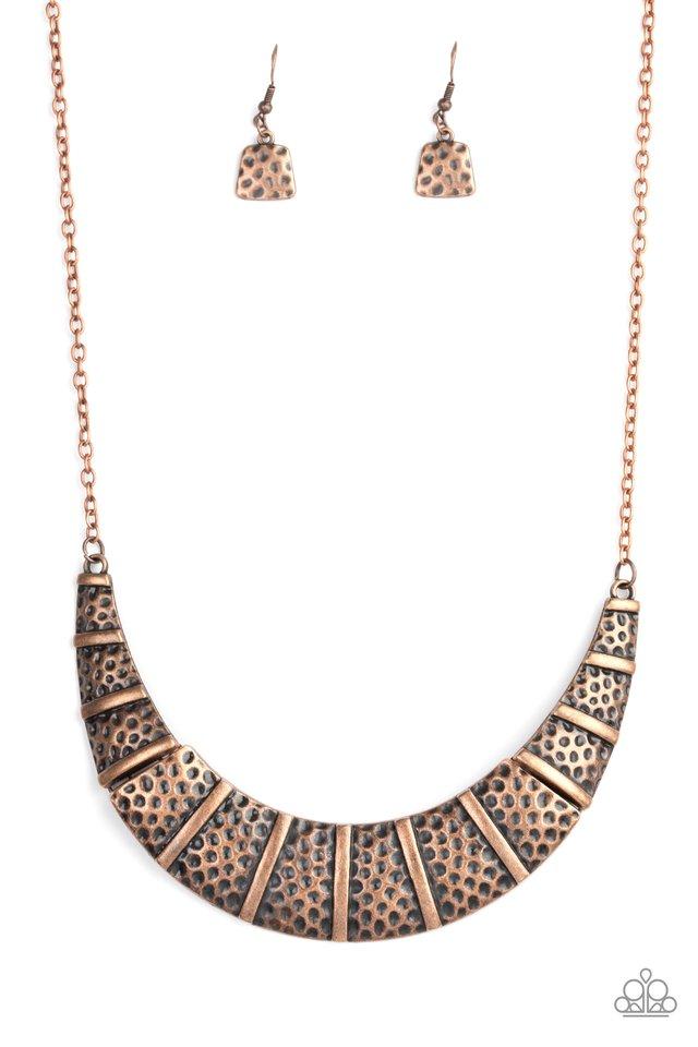Metallic Mechanics - Copper - Paparazzi Necklace Image
