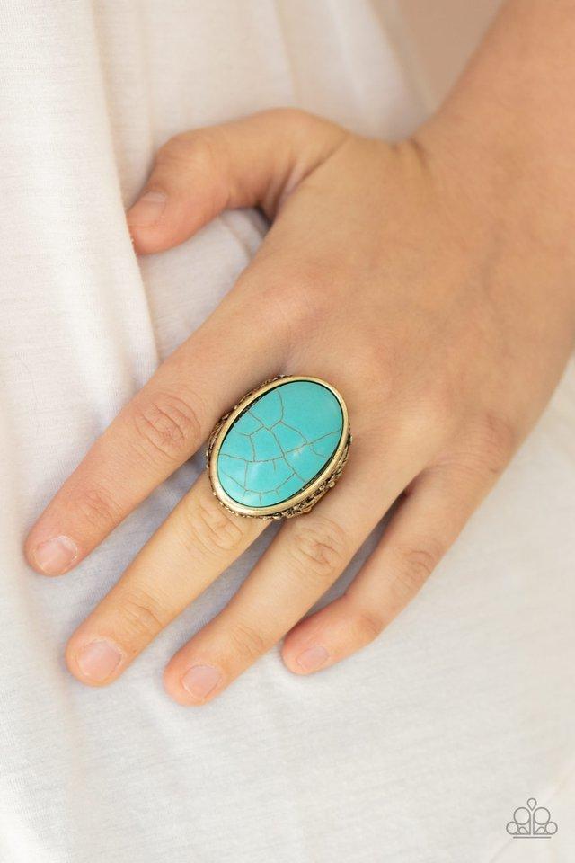 Stonehenge Garden - Brass - Paparazzi Ring Image