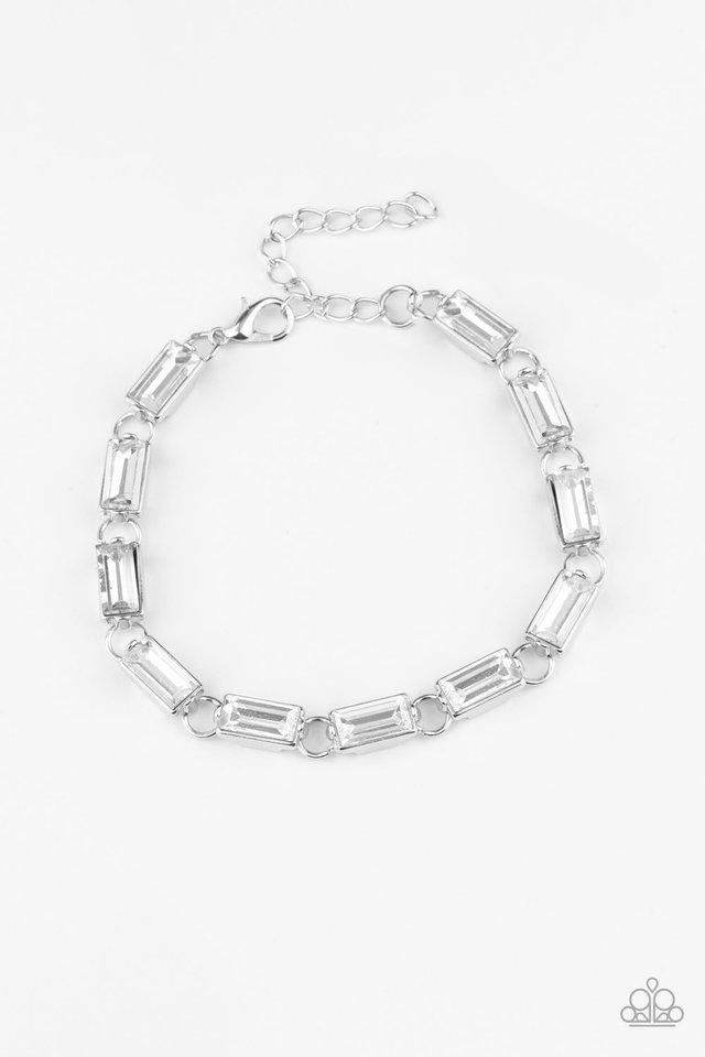 Irresistibly Icy - White - Paparazzi Bracelet Image