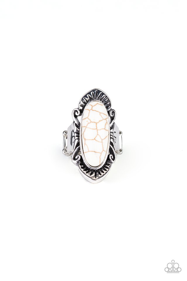 Mineral-Monger - White - Paparazzi Ring Image