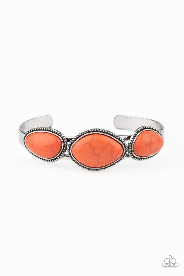 Stone Solace - Orange - Paparazzi Bracelet Image