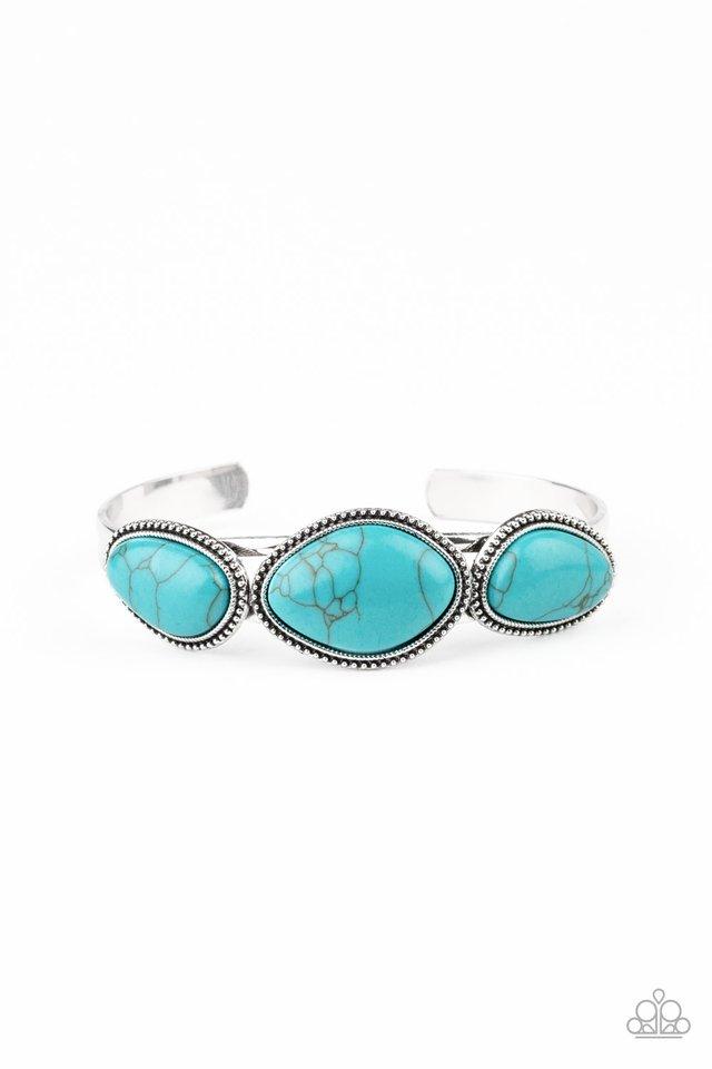 Stone Solace - Blue - Paparazzi Bracelet Image