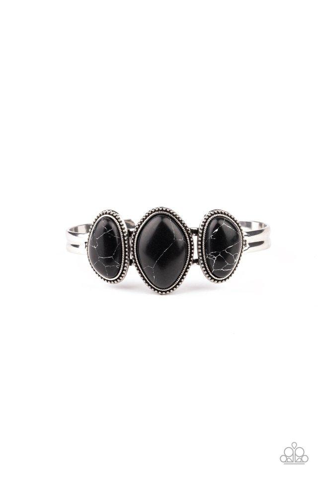 Stone Shrine - Black - Paparazzi Bracelet Image