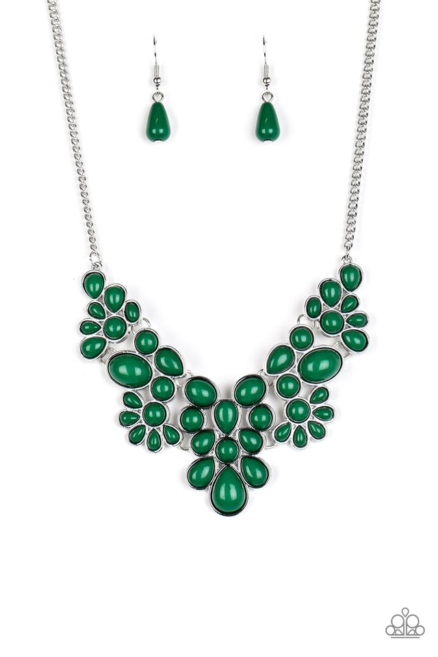 Bohemian Banquet - Green - Paparazzi Necklace Image
