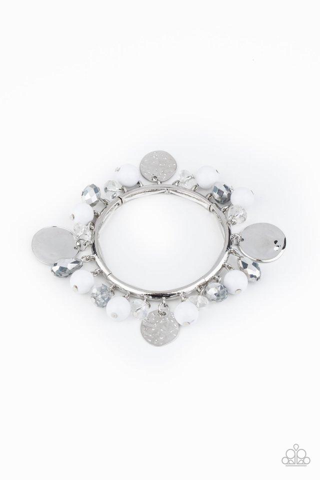 Charming Treasure - White - Paparazzi Bracelet Image