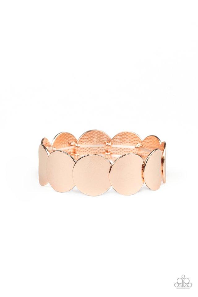 Industrial Influencer - Rose Gold - Paparazzi Bracelet Image