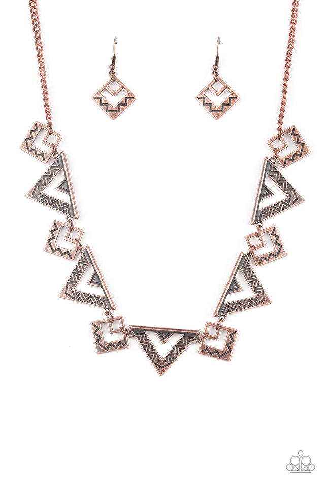 Giza Goals - Copper - Paparazzi Necklace Image