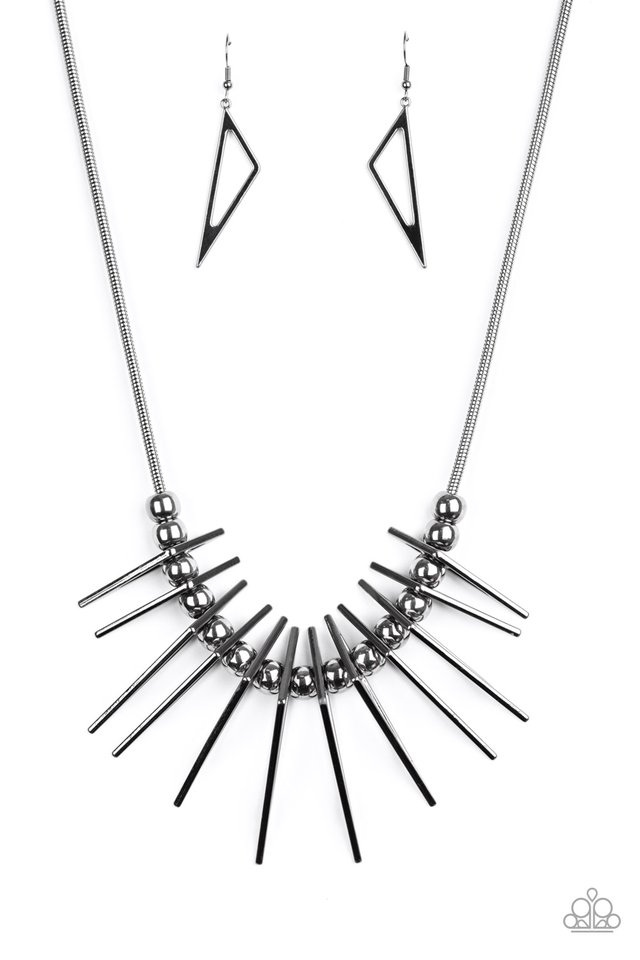 Fully Charged - Black - Paparazzi Necklace Image