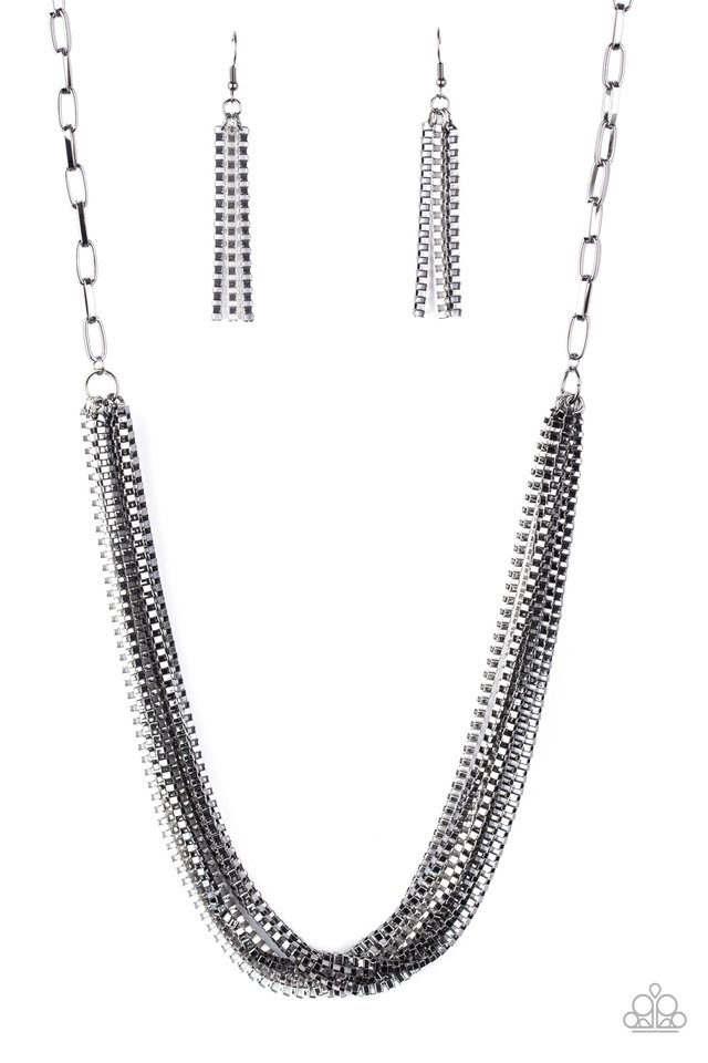 Beat Box Queen - Black - Paparazzi Necklace Image