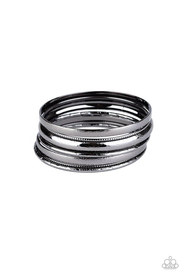 Basic Bauble - Black - Paparazzi Bracelet Image