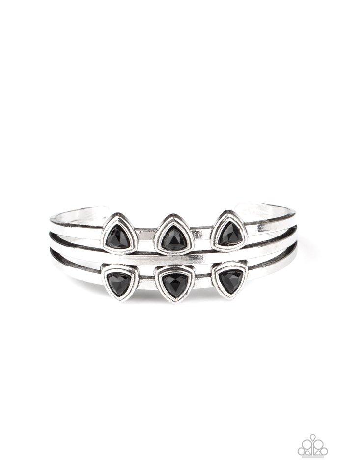 Tribal Triad - Black - Paparazzi Bracelet Image