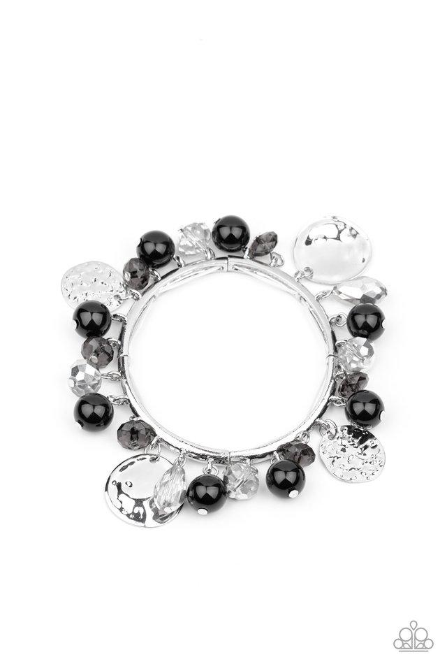 Charming Treasure - Black - Paparazzi Bracelet Image