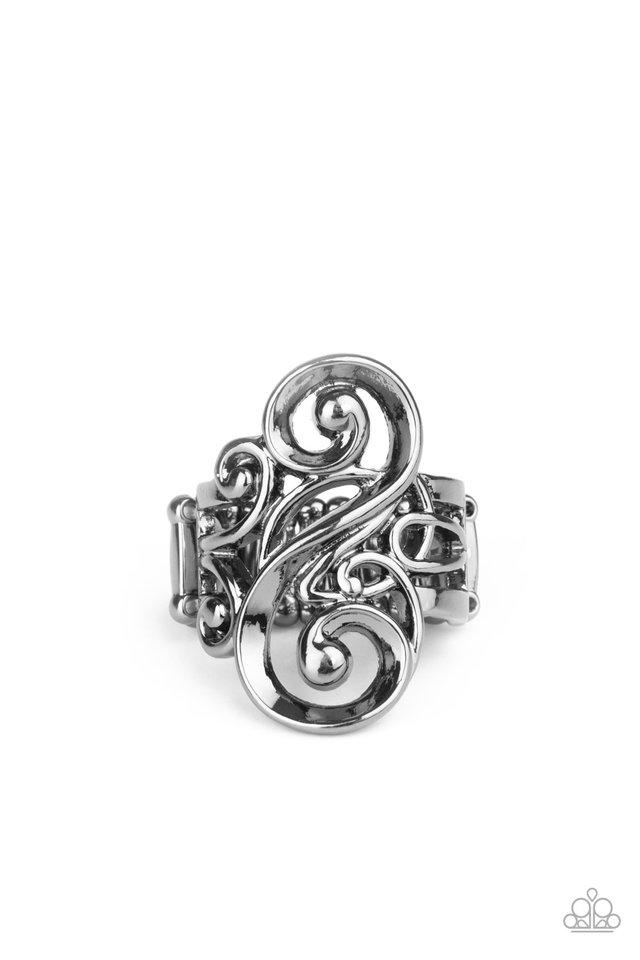 Musical Motif - Black - Paparazzi Ring Image